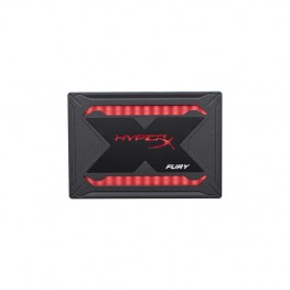 "HyperX Fury RGB SSD 480GB SATA 3 2.5"" Black Case with Multi-Color RGB SHFR200/480G"