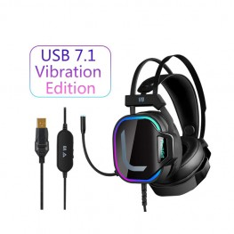 FlashGet V8 7.1 HIGH END BACKLIGHT GAMING HEADSET FOR PC, BLACK