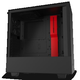 NZXT H510 BLACK RED MID-TOWER PC GAMING CASE