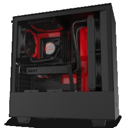 NZXT H510 I BLACK RED MID-TOWER PC GAMING CASE