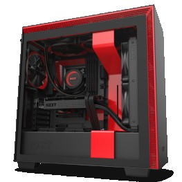 NZXT H710 BLACK RED MID-TOWER PC GAMING CASE